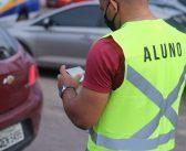 Segmob realiza aula prática para futuros agentes de trânsito